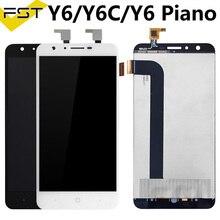 Noir pour DOOGEE Y6 écran LCD + écran tactile 5.5 pouces panneau de verre assemblage pièces de réparation + outils pour y6c/Y6 Piano LCD panneau de verre