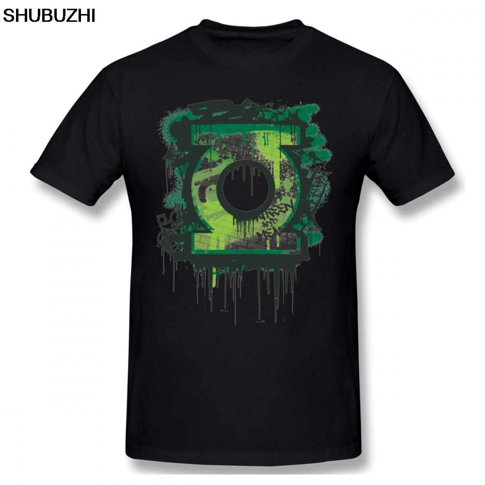 Linterna Verde T Shirt Linterna Verde Graffiti símbolo camiseta Linda manga corta Camiseta gráfica masculina Camiseta de algodón de gran tamaño