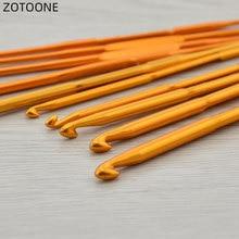 ZOTOONE-pull Double tête alumine   Crochet de 13.5cm, aiguilles à Crochet de tricot de taille Multiple, bricolage pour outils de couture au Crochet 1 pièce/10 pièces