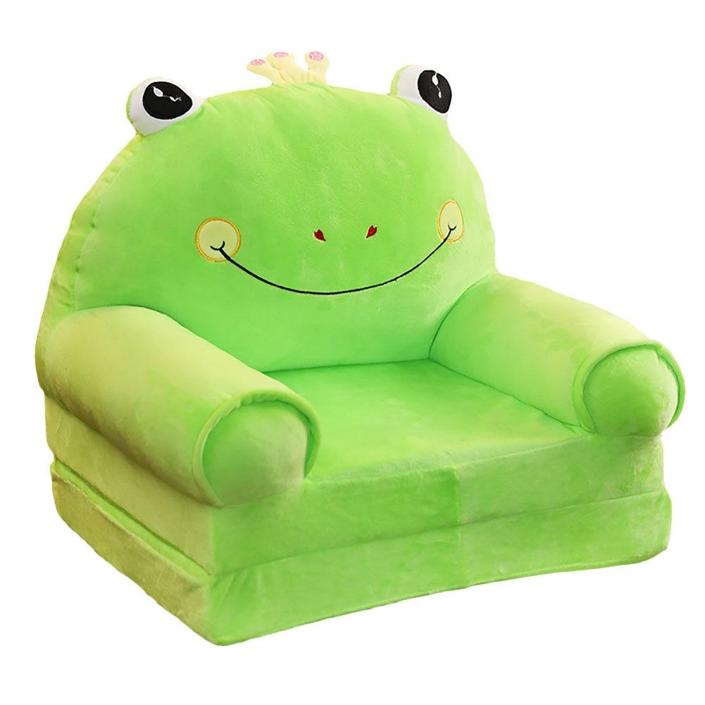 Johnear Kids Sofa Childrens Sofa Cute Cartoon Animal Support Seat Bean Bag Armchair Backrest Chair for Playroom Bedroom