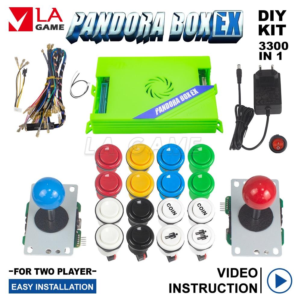 2021 New Diy Arcade Game Control Board Kit 2 Players Joystick With 16 Arcade Buttons 3A Games Arcade Pandora Box EX DDR4 RAM