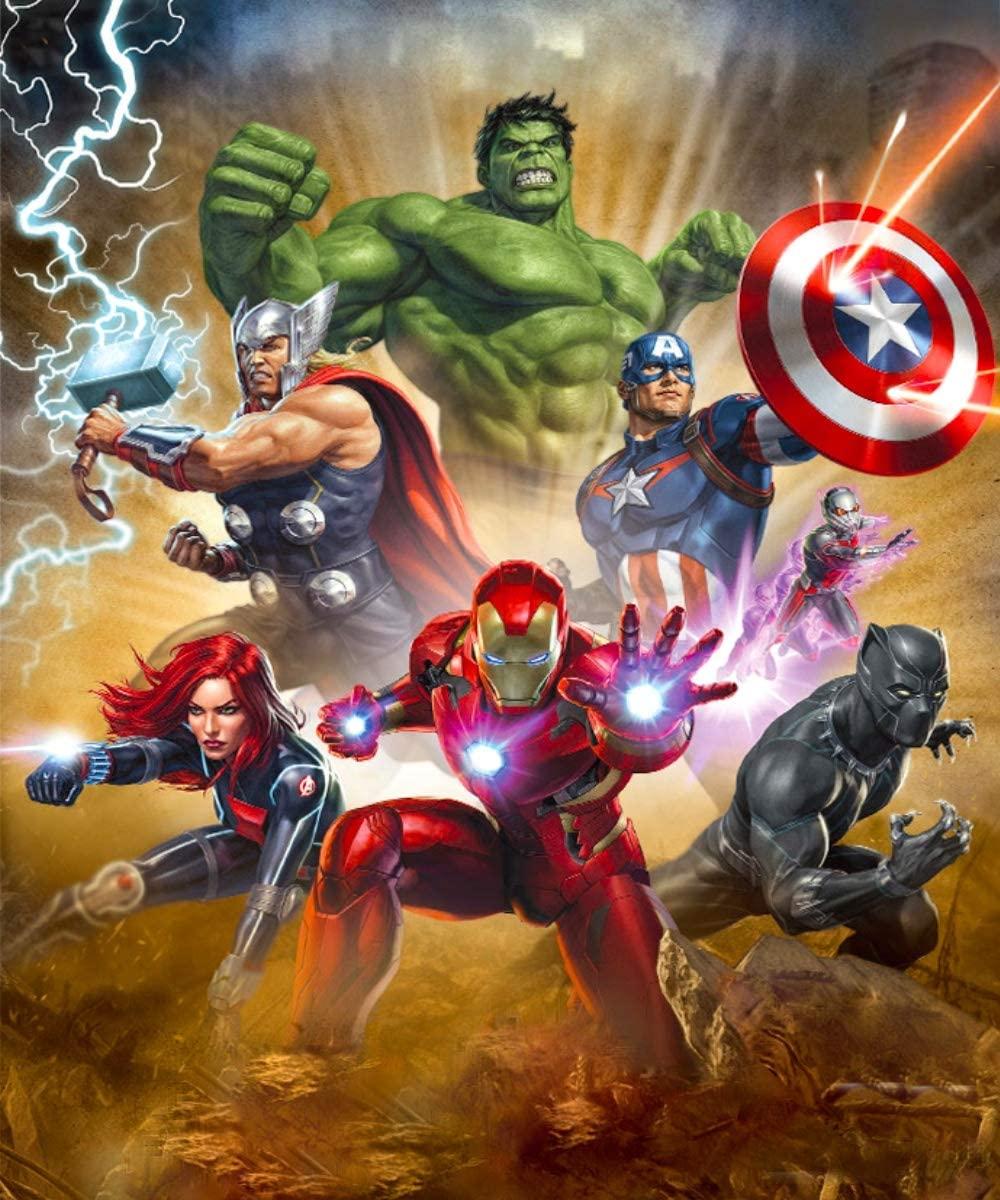 DIY Large Super Hero 5D Diamond Painting Kits for Adults Full Drill,Diamond Art Kits Hulk and Captain America and Iron Man