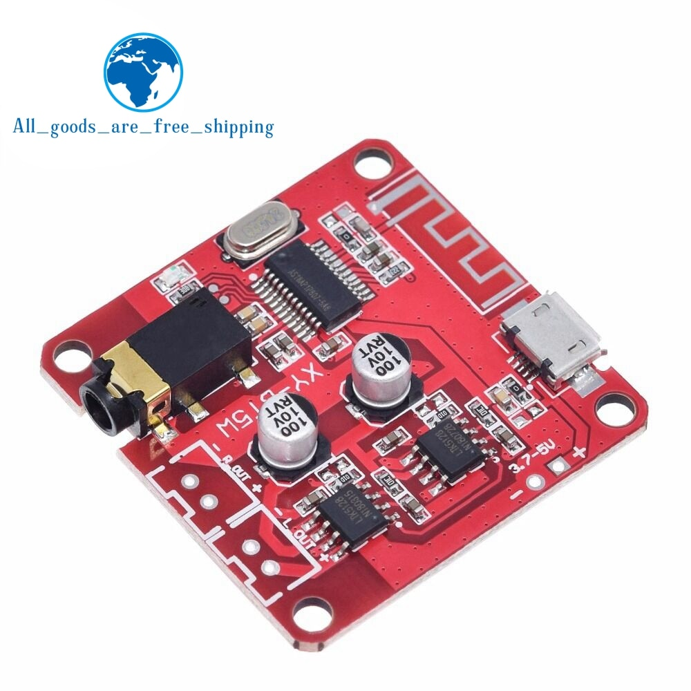 TZT XY-BT5W DC 3.7~5V Bluetooth 4.2 Audio Receiver 5w+5w Stereo Power Amplifier Board