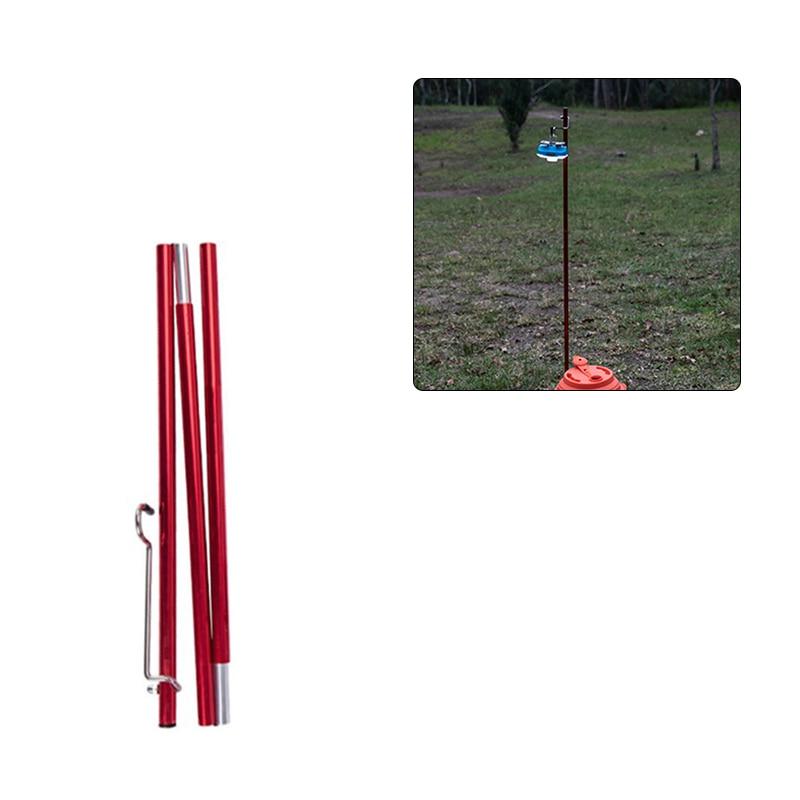 Pequeño poste de luz de alta calidad portátil plegable ajustable soporte de aleación de aluminio poste de la lámpara al aire libre senderismo Camping viaje Picnic
