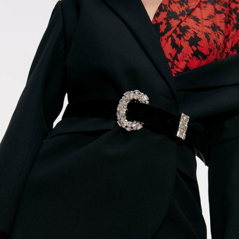 Girlgo 2019 Vintage Crystal Belt for Women Fashion Waist Belt Accessories Body Jewelry Leisure Dress Gifts Ceinture Femme Bijoux