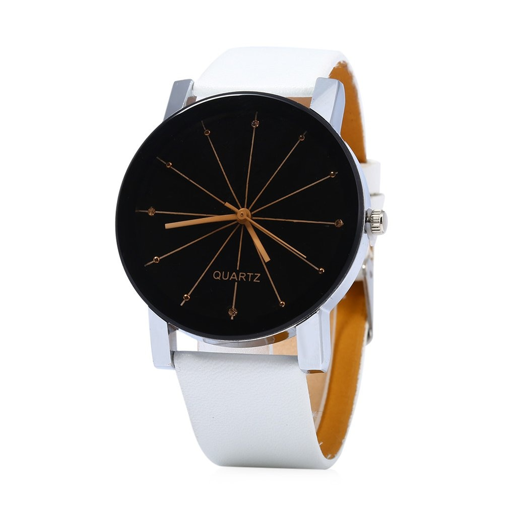 Drop Shipping Leather Wristband Quartz Watches Boys Girls Student Wristwatch Lover Casual Round Dial