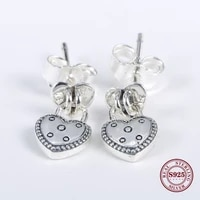 hot real 925 sterling silver earring radiant teardrop studs earring with crystal for women wedding gift fashion jewelry