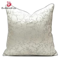 bubble kiss gray white pillows case for bedroom polyester square cushions cover for home sofa soft car decor cushion pillowcase