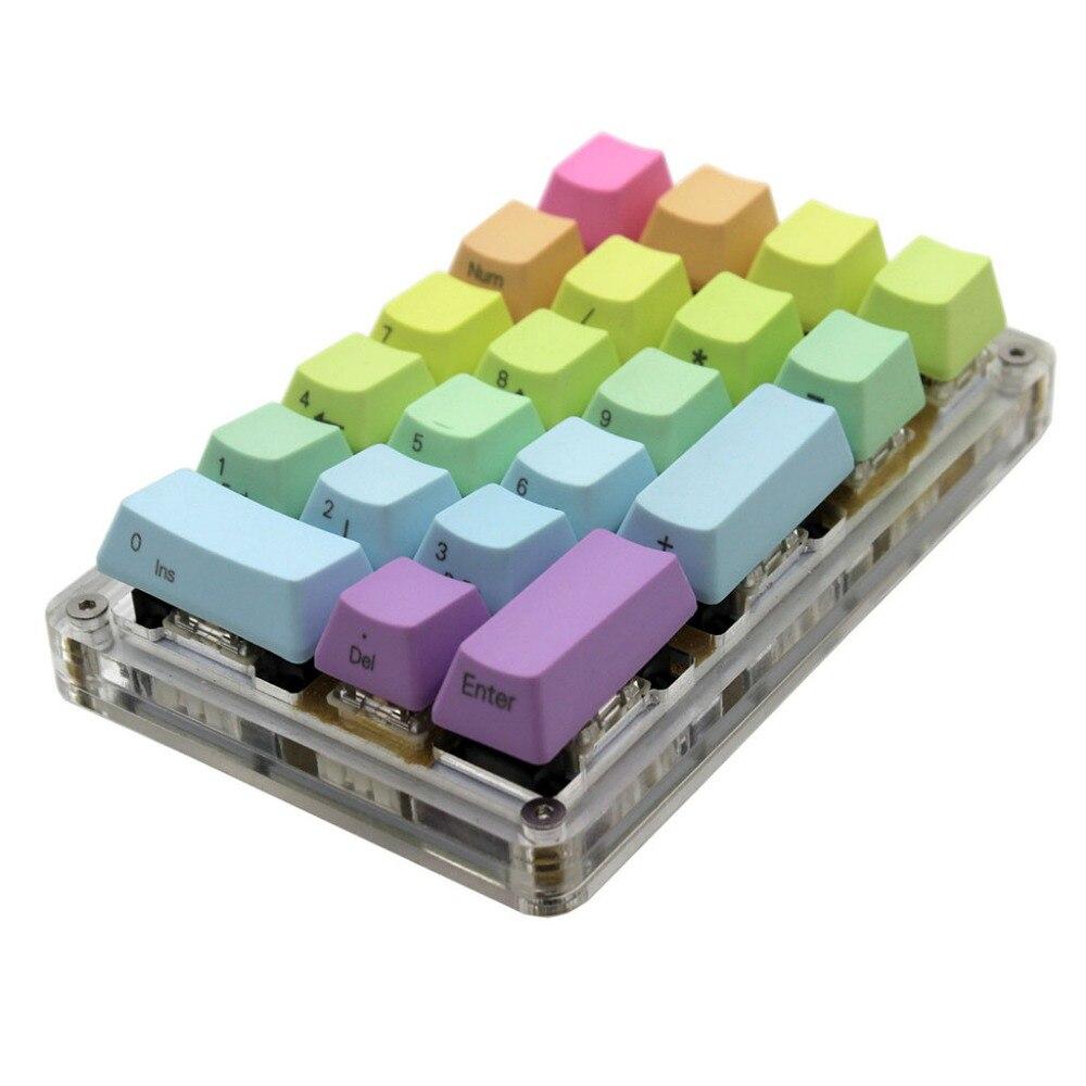 Механическая клавиатура 21 23 с 24 программируемыми клавишами, с функцией макросъемки и вишневыми переключателями