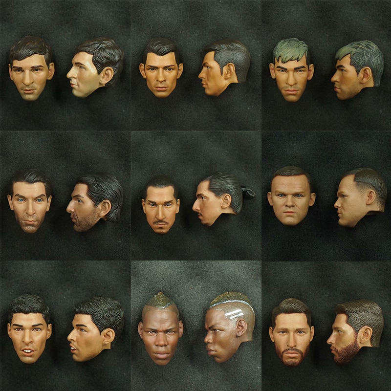 Collection Action Figure RONALDO Head Sculpt 1/6 Scale Football Stars Player Carving High Quality Toy Dolsl Accessories