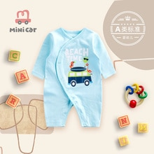 Car children's wear baby one piece clothes baby spring and autumn long sleeve thin Romper clothes go