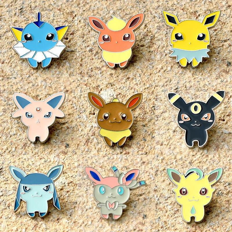 Pokemon Cute Japanese Style Anime Movies Badge Pikachu Enamel Pins Game Lapel Pin Animal Brooch Toys Christmas Present