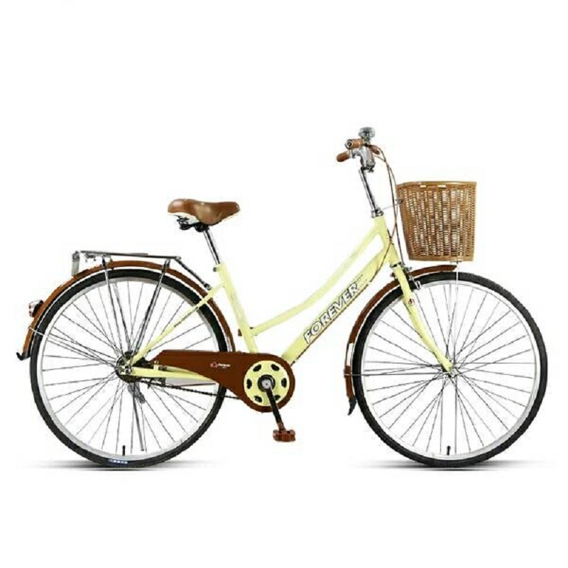 Bicicleta de carretera y de montaña de 24 /26 pulgadas, doble freno de disco, neumático de acero, entrega aleatoria, Marco doblado, cesta de siembra, regalo