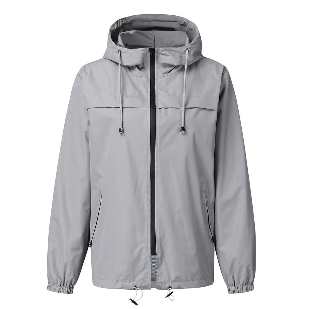 Women Solid Warm Jacket Outdoor Waterproof Hooded Raincoat Pocket Hiking Fast Dry Windproof Raincoat for Womans