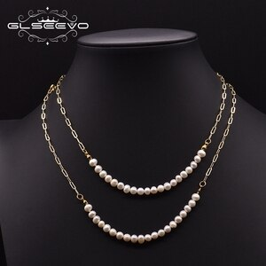 GLSEEVO Natural Double Freshwater Baroque Pearl Necklace  Gifts For The New Year Fashion Original Design Jewelry 2020 GN0250