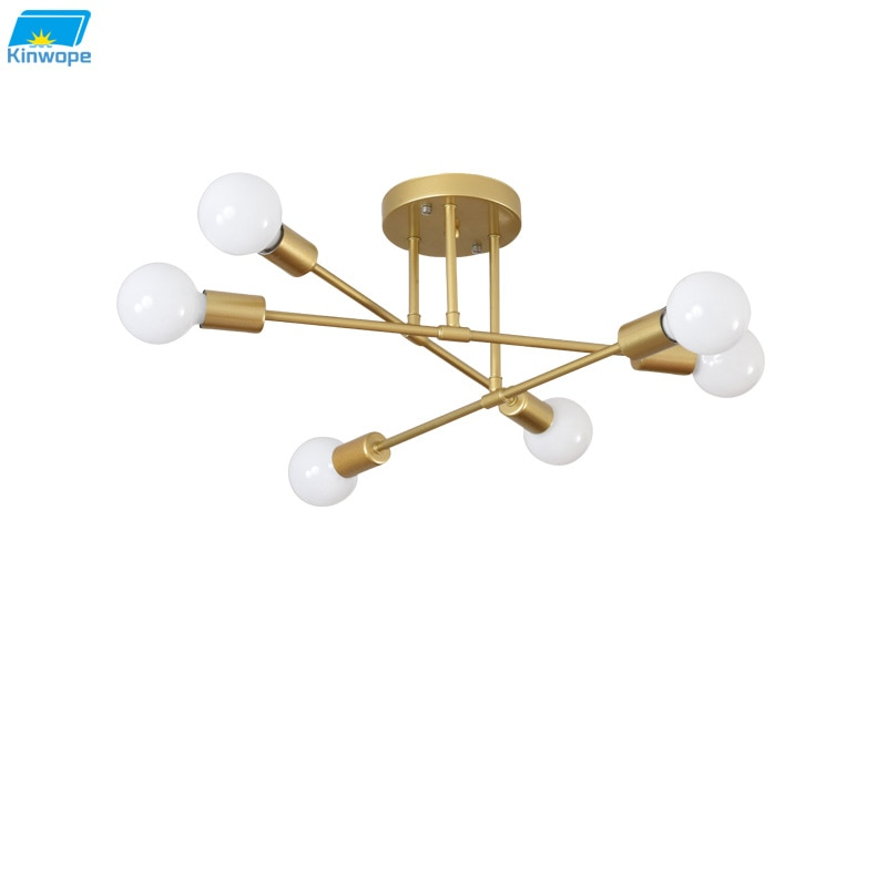 Modern Creative Lighting Warm And Romantic Golden Bedroom Modern Minimalist Personality Living Room Dining Room Ceiling Lamps