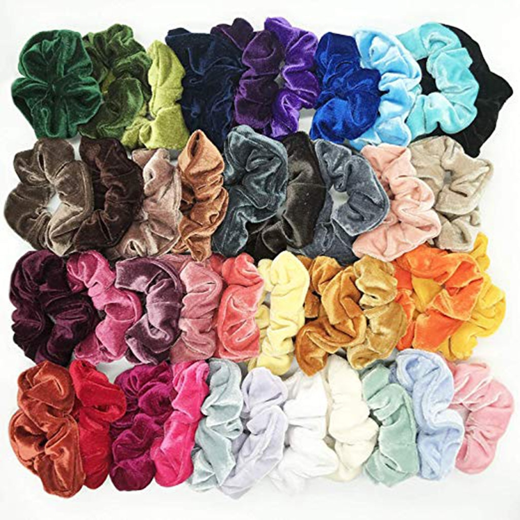 40 Uds accesorios para el pelo scrunchie gumki ¿wlosow diademas para el pelo mujer accesorios mujer haar accesorios para el pelo de Z4