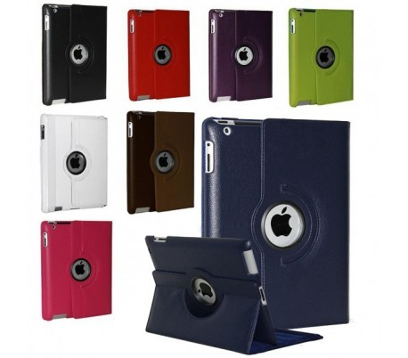 Compatible Case for iPad 2-3-4 skin synthetic rotation 360 ° stand