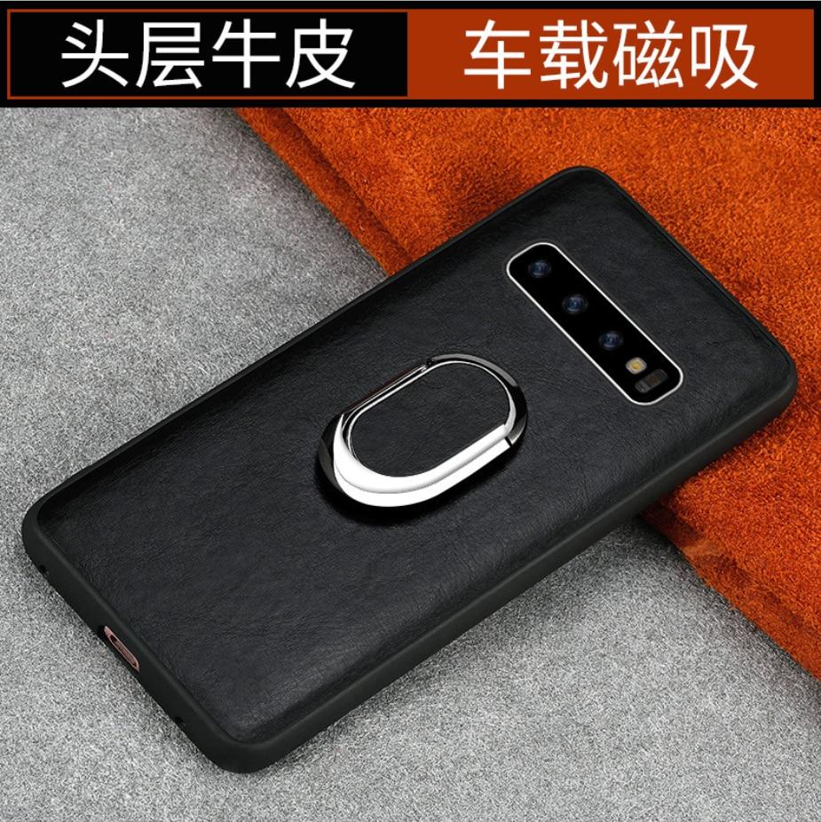 Luxo Funda de cuero genuino crocolo Telefone movel para samsung galaxy A50 A70 A40 A20 Note 8 9 10 S8 S9 S10 plus funda de teléfono