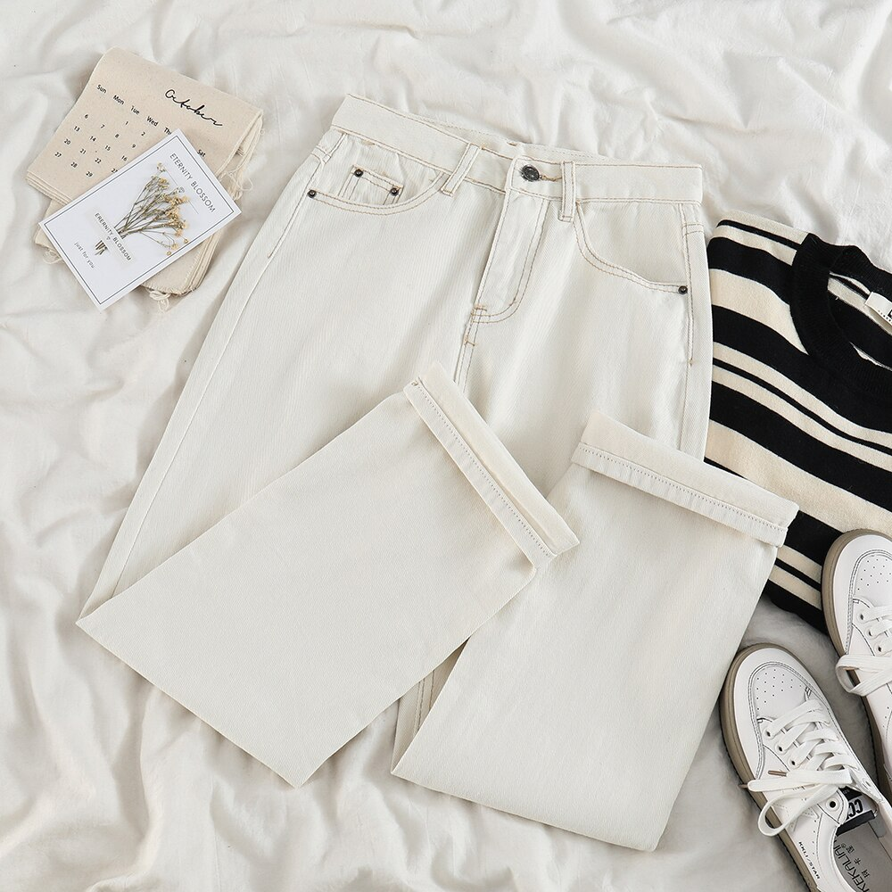 High Waist Straight Pants Female Autumn and Winter New Style Korean-style Loose Slimming Significant