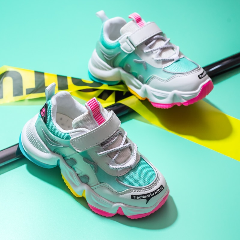 New Kids Running Sneakers Tennis Shoes Row Sneakers Child Footwear Shoes for Girls Sports Shoes  Baby Shoes  Kids Fashion