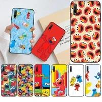 cute cartoon sesame street luxury unique design phone cover for huawei honor 30 20 10 9 8 8x 8c v30 lite view pro