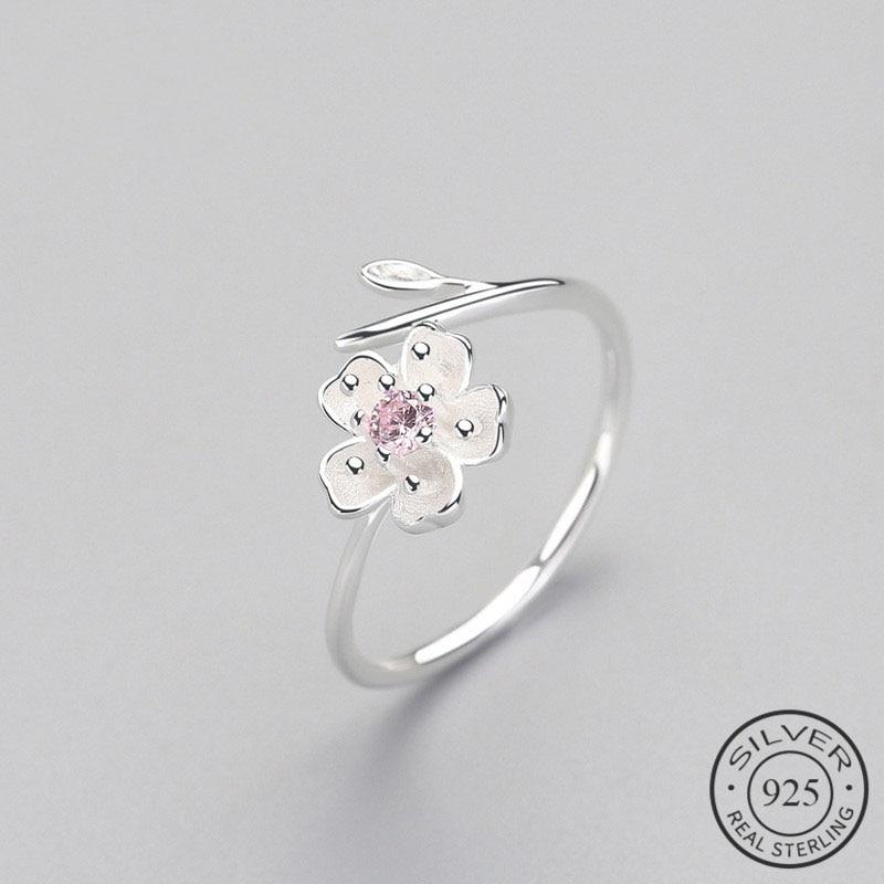 Женское-регулируемое-вечерние-ЦО-из-серебра-925-пробы-с-эмалью-и-цветком-сливы