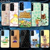 qxtq cartoon new horizon cross tempered glass phone case cover for huawei honor mate p 8 9 10 20 30 40 a x i pro lite smart 2021