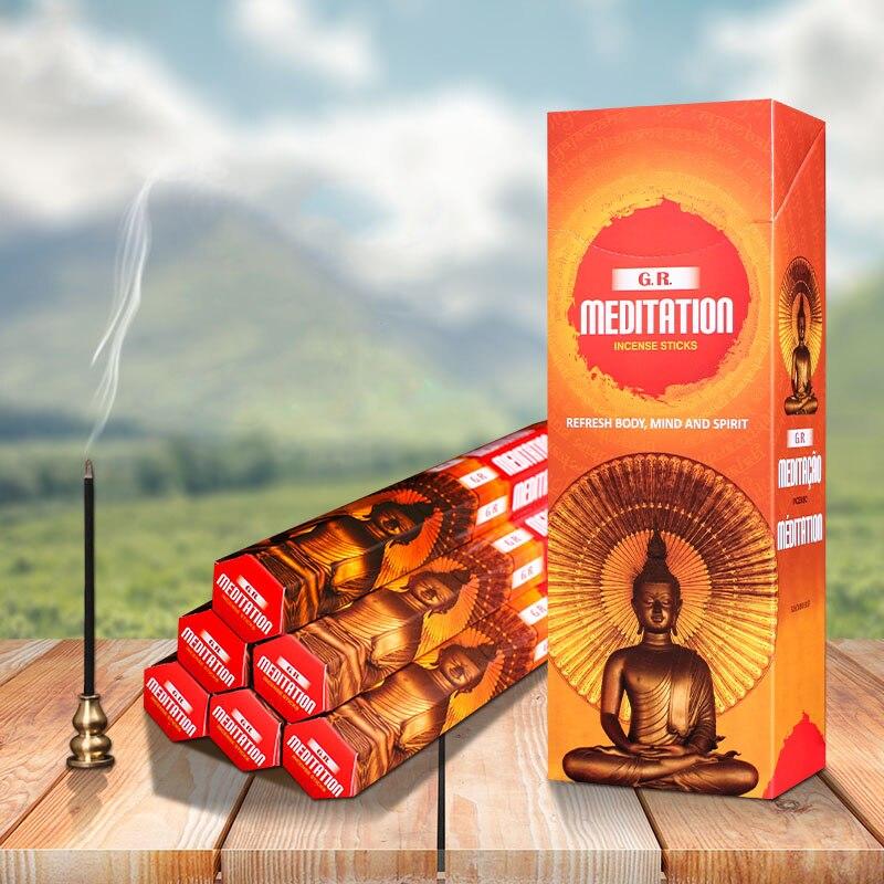Índia Incenso Meditação Buda Vara Aromatherpay Yoga Relaxar Cheiro Atualizar ar Doméstico Fornecimento Interior