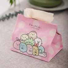 1 Pc Kreative Japanischen Sumikko Gurashi Ecke Kreatur PU Tissue Box abbildung Spielzeug nette Papier Handtuch Fällen Geschenk Hause auto decor