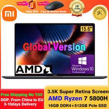 2021 Xiaomi Mi ноутбук Pro 15 Ryzen Edition AMD Ryzen 7 5800H 15,6 дюймов ноутбуки 16 Гб ОЗУ 512 ГБ SSD компьютер Windows 10 Pro