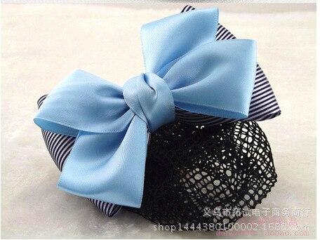Professional hair net head flower hair accessories white collar bank nurse hotel stewardess high-end gift handmade cloth ribbon