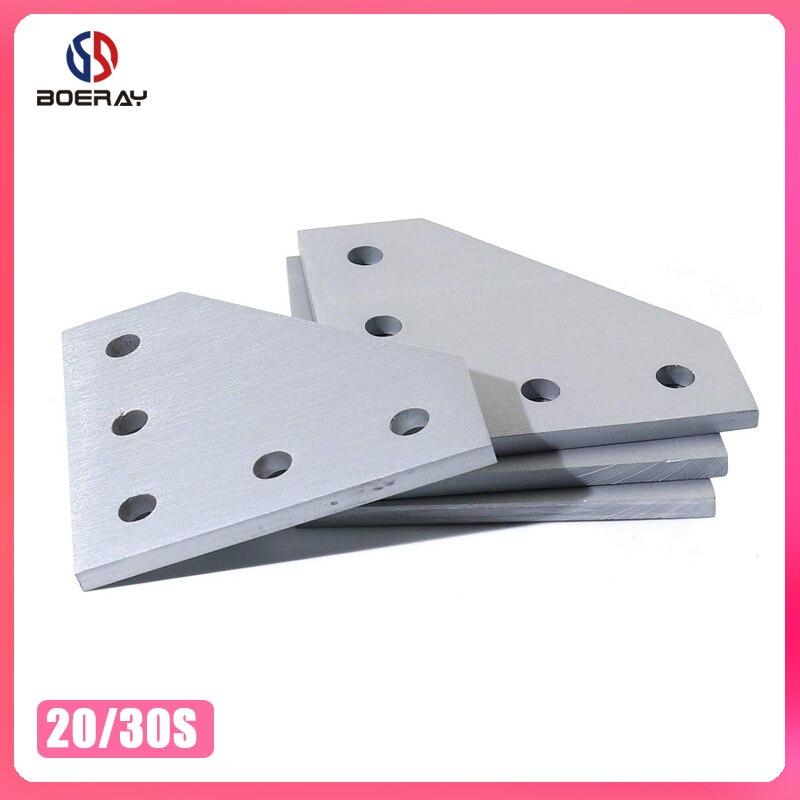 Paquete de 2 unidades, abrazadera de 5 orificios 2020 3030, placa de junta de 90 grados, soporte de ángulo de esquina, tira de unión de conexión para perfil de aluminio