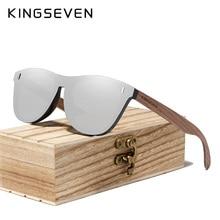 KINGSEVEN Handmade Black Walnut Sunglasses Wood Polarized Sunglasses Men Women UV400 Protection Orig