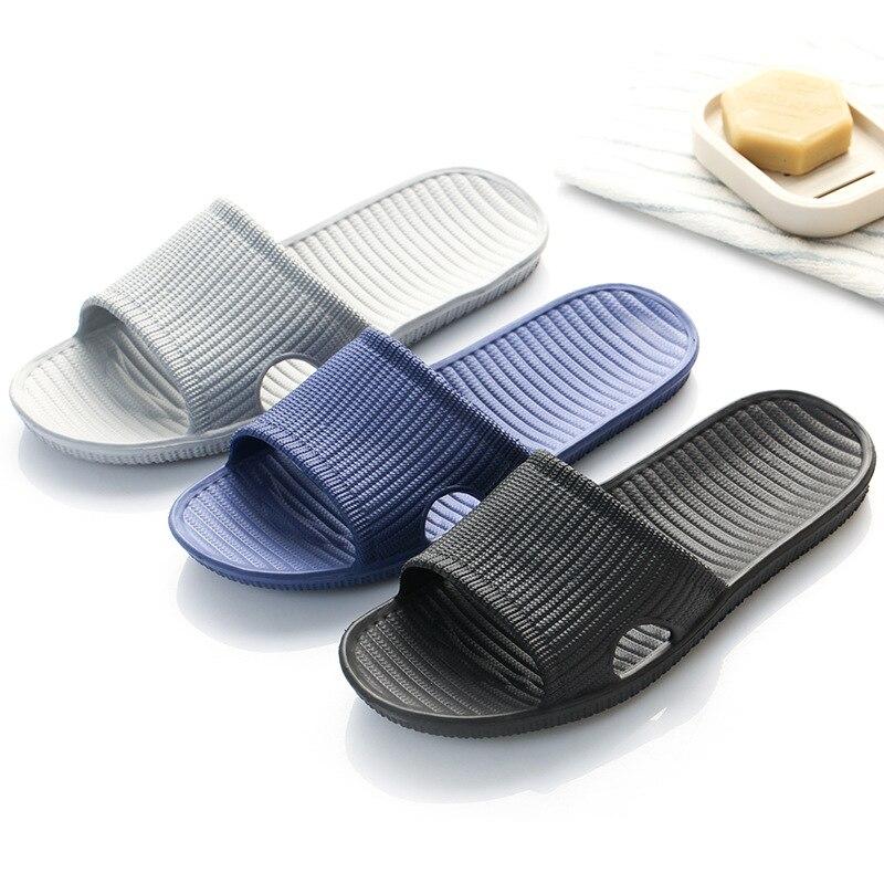 Zapatillas De Interior De verano para Hombre, Zapatillas planas De goma Eva para interiores, chanclas para Hombre y mujer, Zapatillas De baño antideslizantes, Zapatillas De casa para Hombre