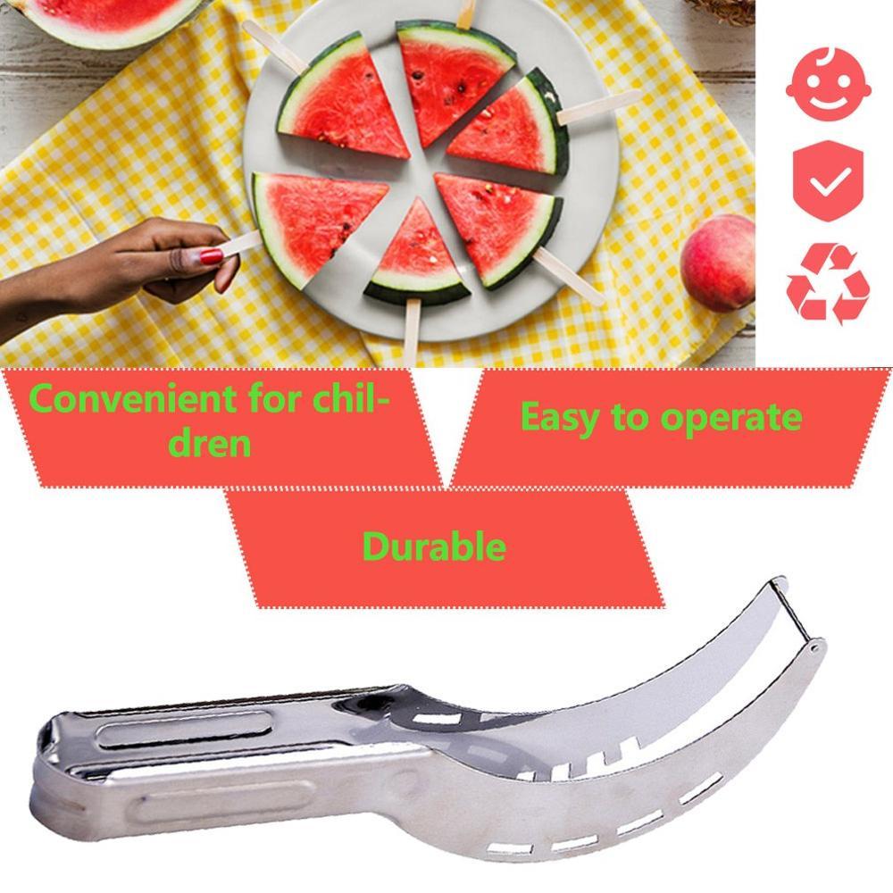 Gadgets de cozinha de aço inoxidável cortador de melancia slicer gadgets de cozinha faca frutas vegetais ferramentas q-apertos praska do czosnku