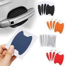 4Pcs/Set Car Door Sticker Carbon Fiber Scratches Resistant Cover Auto Handle Protection Film Exterio