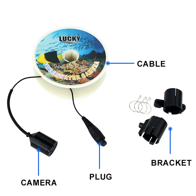 Portable Underwater Fishing finder match with 3308-8 System CMD sensor 3.5 inch TFT RGB Waterproof Monitor Fish Sea 20M enlarge