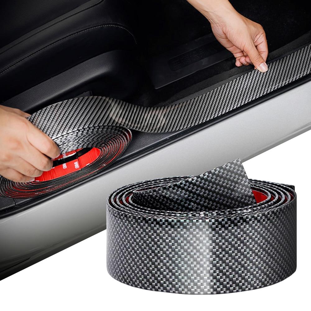 Etiqueta engomada del coche de fibra de carbono Protector de goma para Borde de puerta Protector para BMW g30 e87 e90 e39 e46 e91 x5 e70 f20 f10 Accesorios