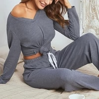 muyogrt autumn winter womens pajamas sets nightwear long sleeve sleepwear soft pajama female sleep two piece set loungewear
