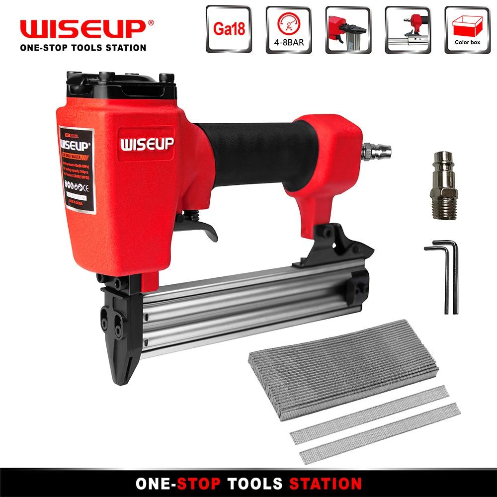 WISEUP Pneumatic Nail Gun Air Brad Nailer Construction Furniture Upholstery Stapler For Ga18 F30/Ga20 1013J Nail Pneumatic Tools