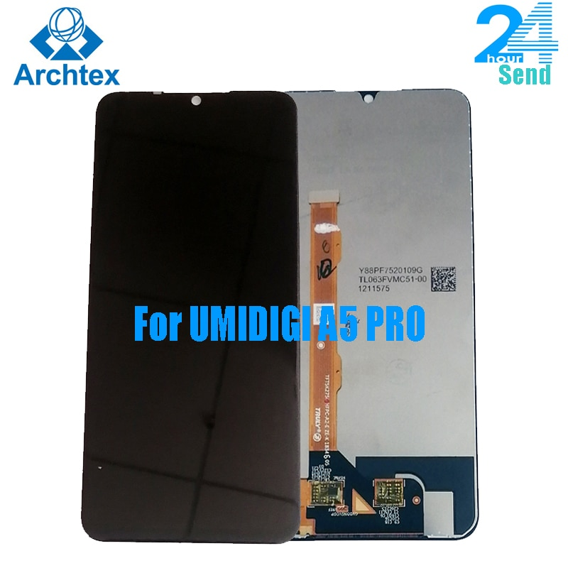 100% original UMIDIGI A5 PRO LCD Display and Touch Screen 6.3 inch A5 PRO Screen Digitizer Assembly Replacement +Tools  stock