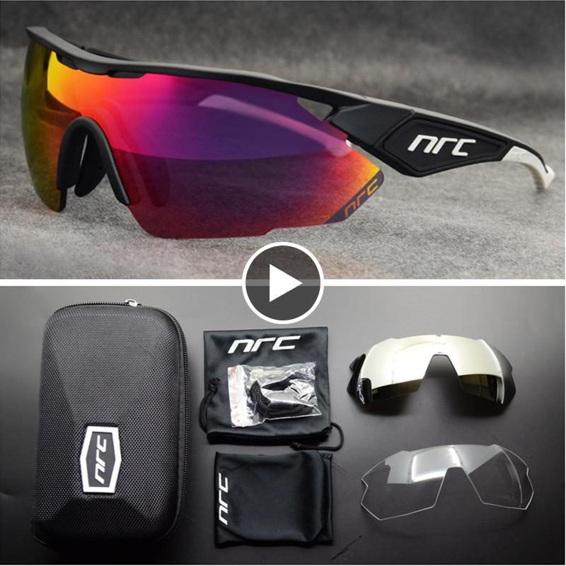 NRC TOP Brand Cycling Glasses Men Bicycle Eyewear UV400 Cycling Sunglasses Gafas Ciclismo TR90 MTB Road Bike Sports Sunglasses