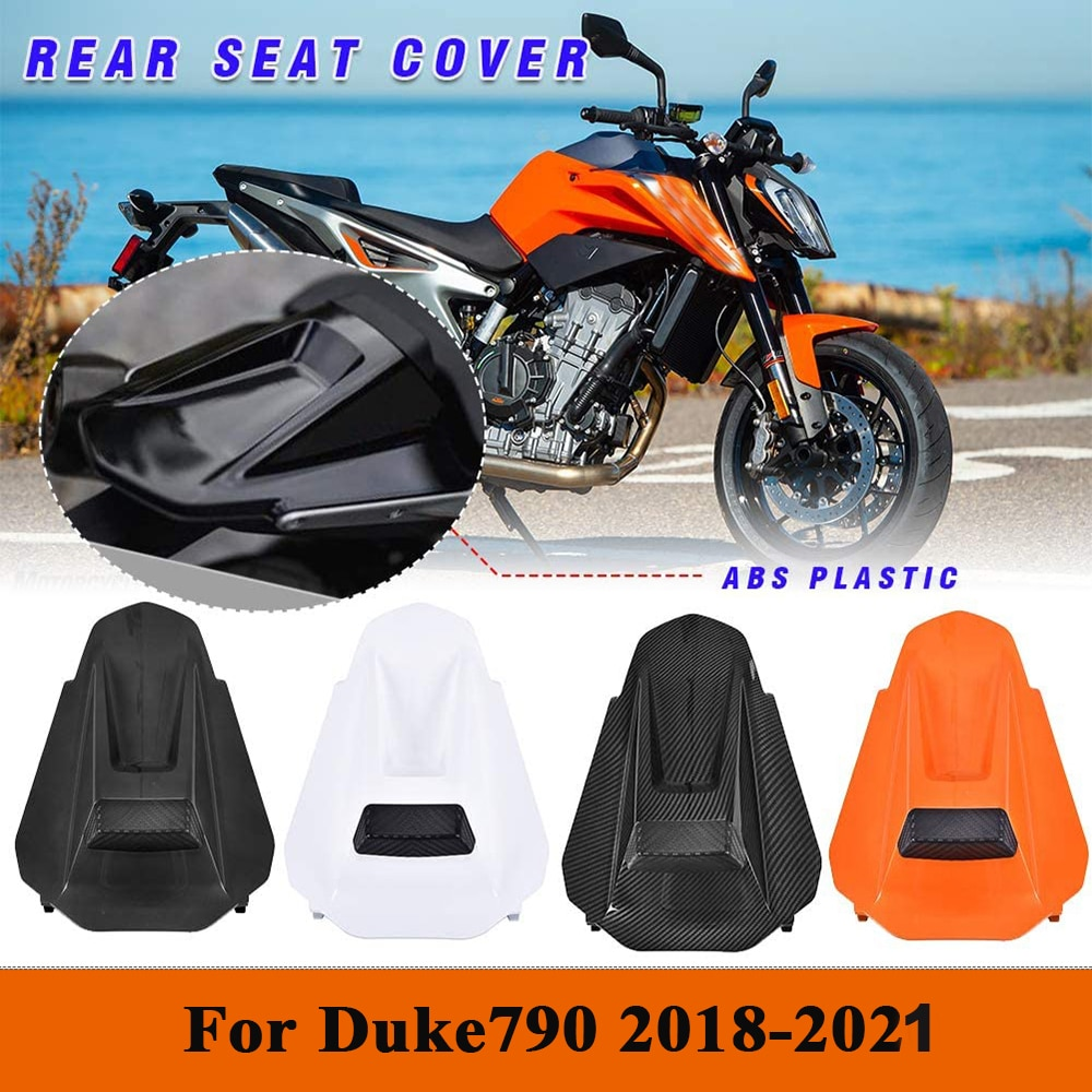 For Duke 790 Accessories Motorcycle Rear Seat Cover Tail Section Fairing Cowl For KTM 790 2020 2019 2018 Motorbike Carbon Fiber