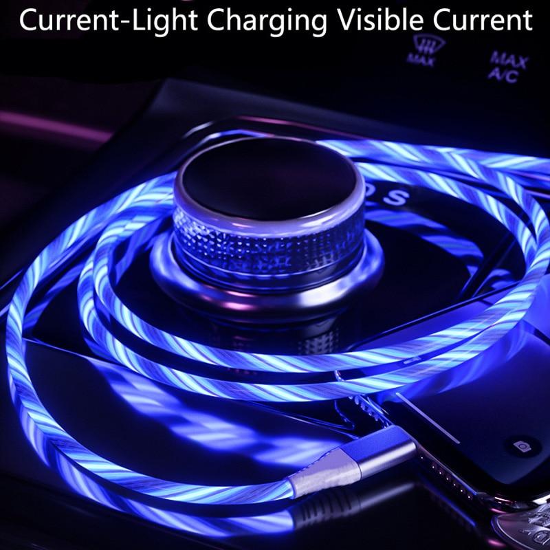 Автомобильный светодиодный usb-кабель для зарядки и передачи данных для Ford Focus 2 3 Fiesta Mondeo Citroen C4 Skoda Octavia Rapid Superb
