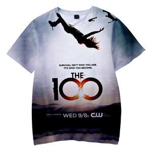 New 3D Top Fashion The 100 T-Shirt Men Women Unisex T Shirts The 100 TV Show May We Meet Again Harajuku Casual Short Sleeve