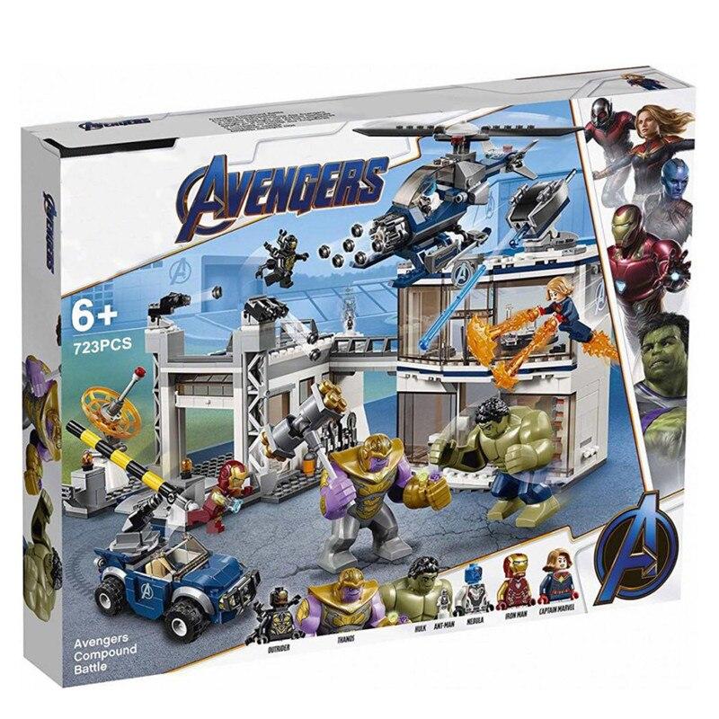 Los Vengadores de marwel, Endgame, Superhéroes, Thanos vengadores, compuesto de batalla, bloques de construcción, ladrillos, juguetes para niños, compatibles con Lepinblock