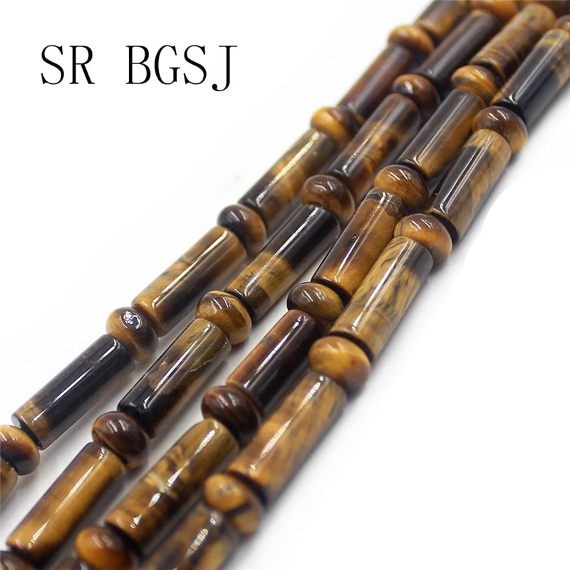 Free Shipping 4x6mm 5x14mm Rondelle Column Tube Yellow Tiger Eye Natural Gems Stone  Jewelry Spacer DIY Beads Strand 15