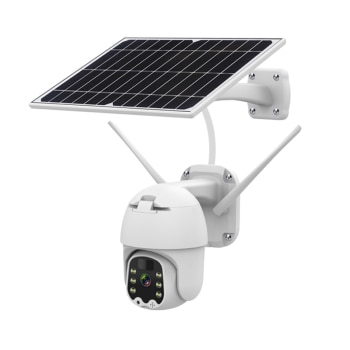 Gadinan IP Camera 1080P 4G Sim Card /WiFi Solar PTZ Speed Dome Camera Security Low Power Consumption Wireless CCTV Outdoor Cam