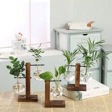 Bonsaï plante en verre Transparent   Terrarium, Vasevase, décoration de la maison, Vases de fleurs, Pot de fleur Vintage, cadre en bois, plantes de table